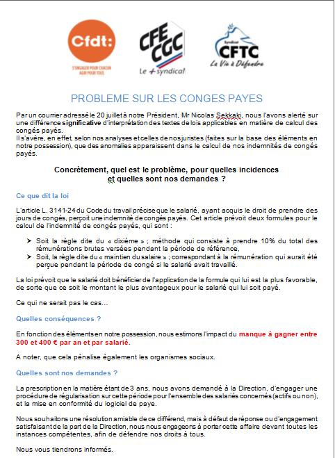 CFE-CGC IBM - Tract Paris Banlieue: Problème sur les ...